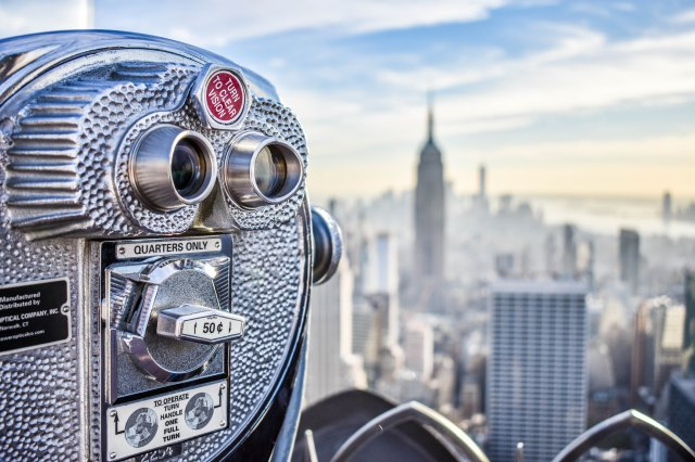 NYC skyline tower viewer